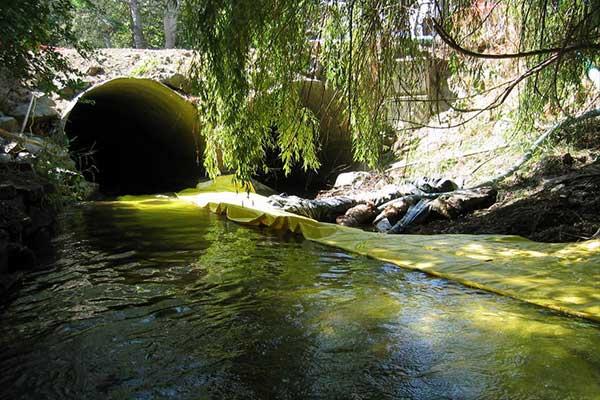 aislamiento de cofferdam uso río