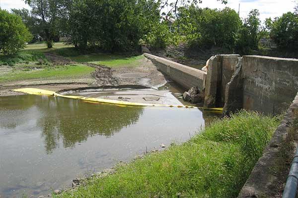 desviación del trabajo del río cofferdam