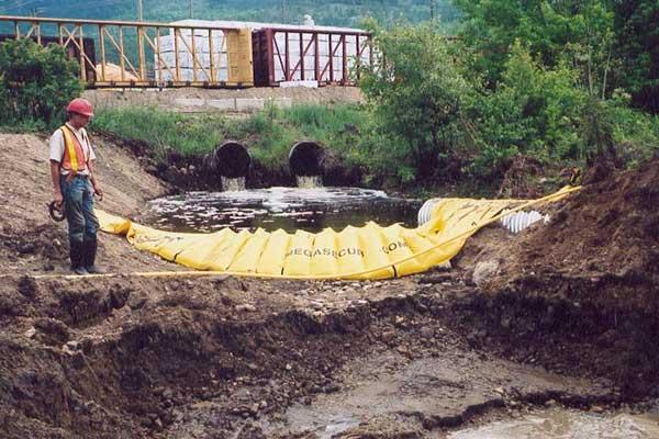 ataguías de río de canalización