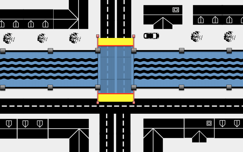 protection inondation en bout de pont