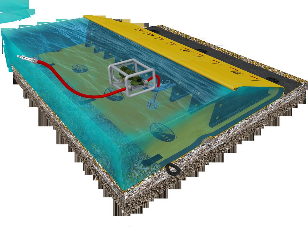 principio de la presa de la puerta de agua para la defensa contra incendios al aire libre