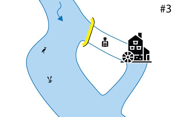 canalización del río ataguías