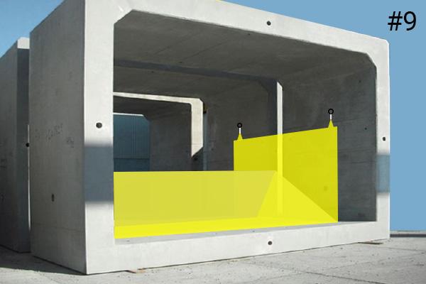 Ataguías flexibles Water-Gate ©. Esquema de una instalación en una alcantarilla de hormigón | Caso # 9